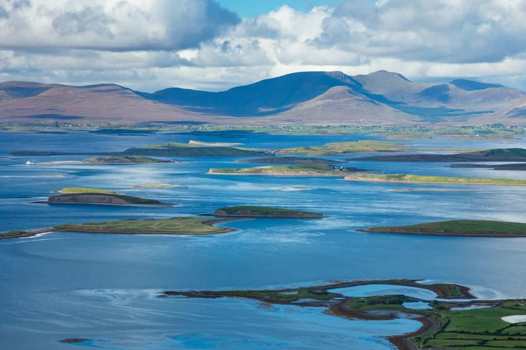 croagh patrick view over clew bay