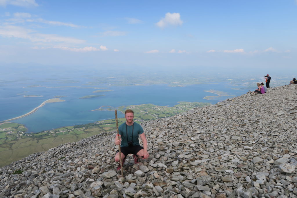 sitting on croagh patrick