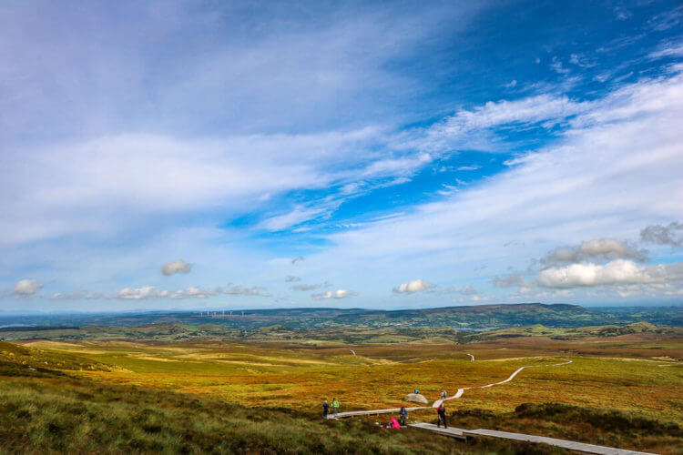 dublin to cuilcagh mountain