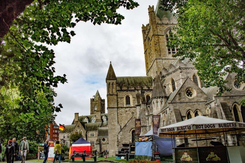 Christ Church cathedral in dublin city
