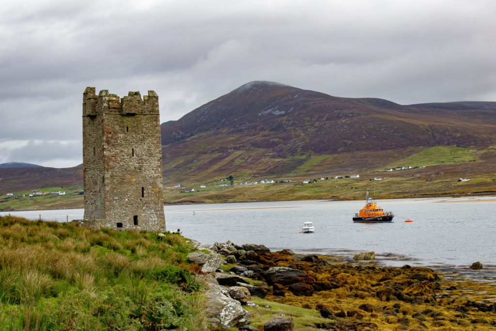 castle on achill island