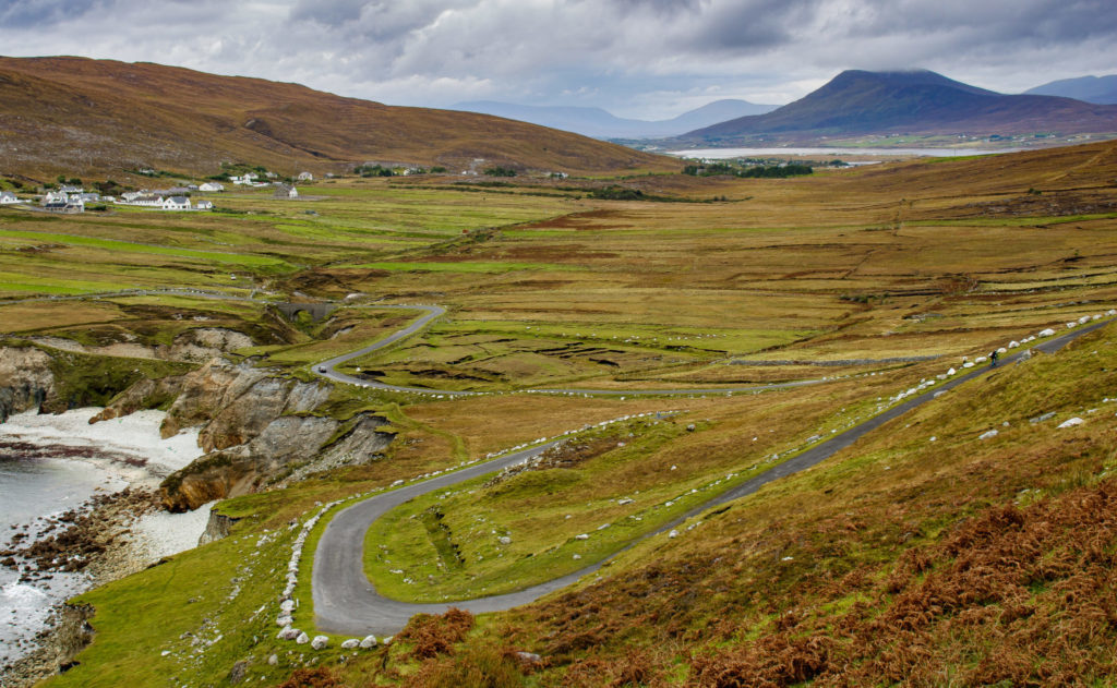 winding roads on achill island