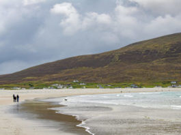 beach on achil island in mayo