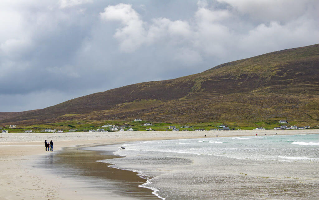 beach on achil island in mayo