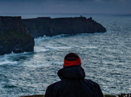 standing at the cliffs of moher