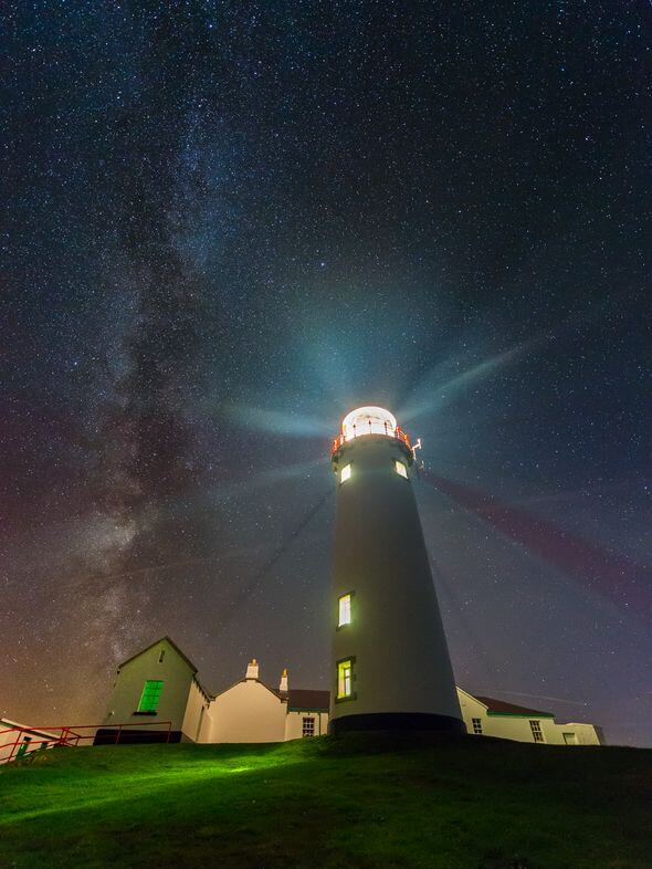 fanad head lighthouse northern lights