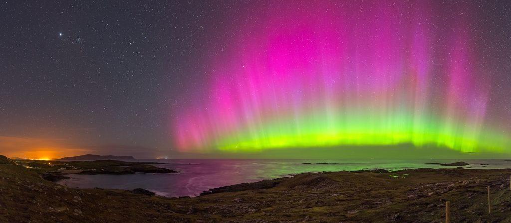 northern lights in ireland