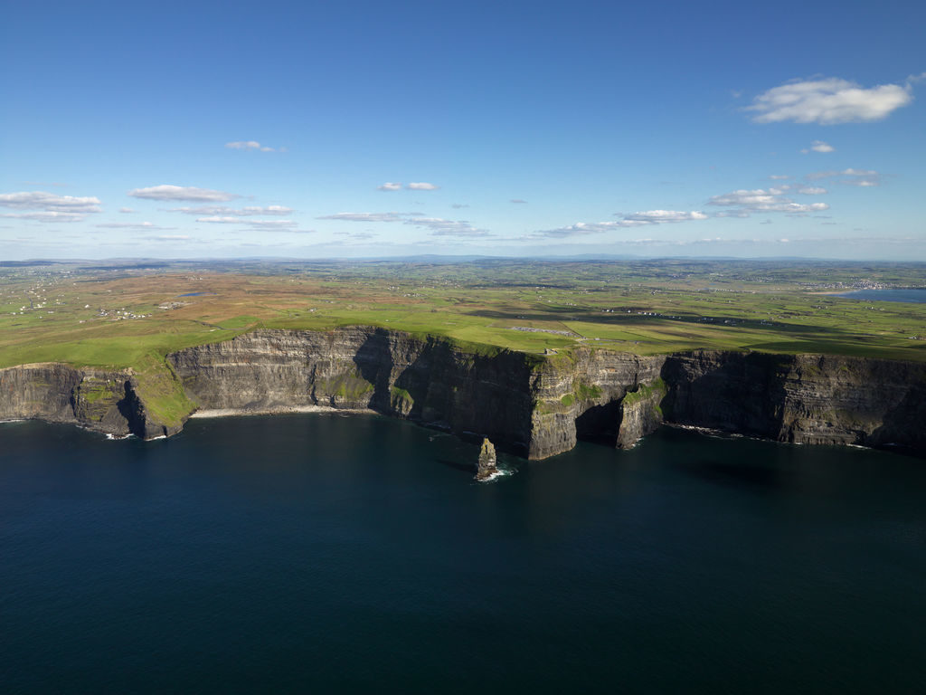 Drone at the cliffs of moher