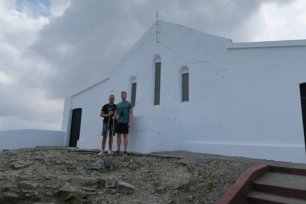 The Church at the summit of croagh patrick