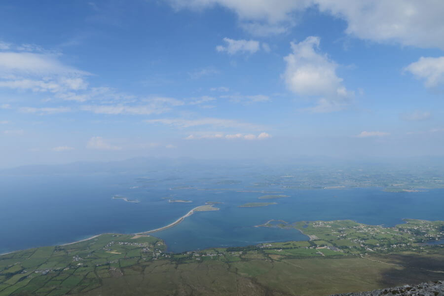 the view from croagh patrick
