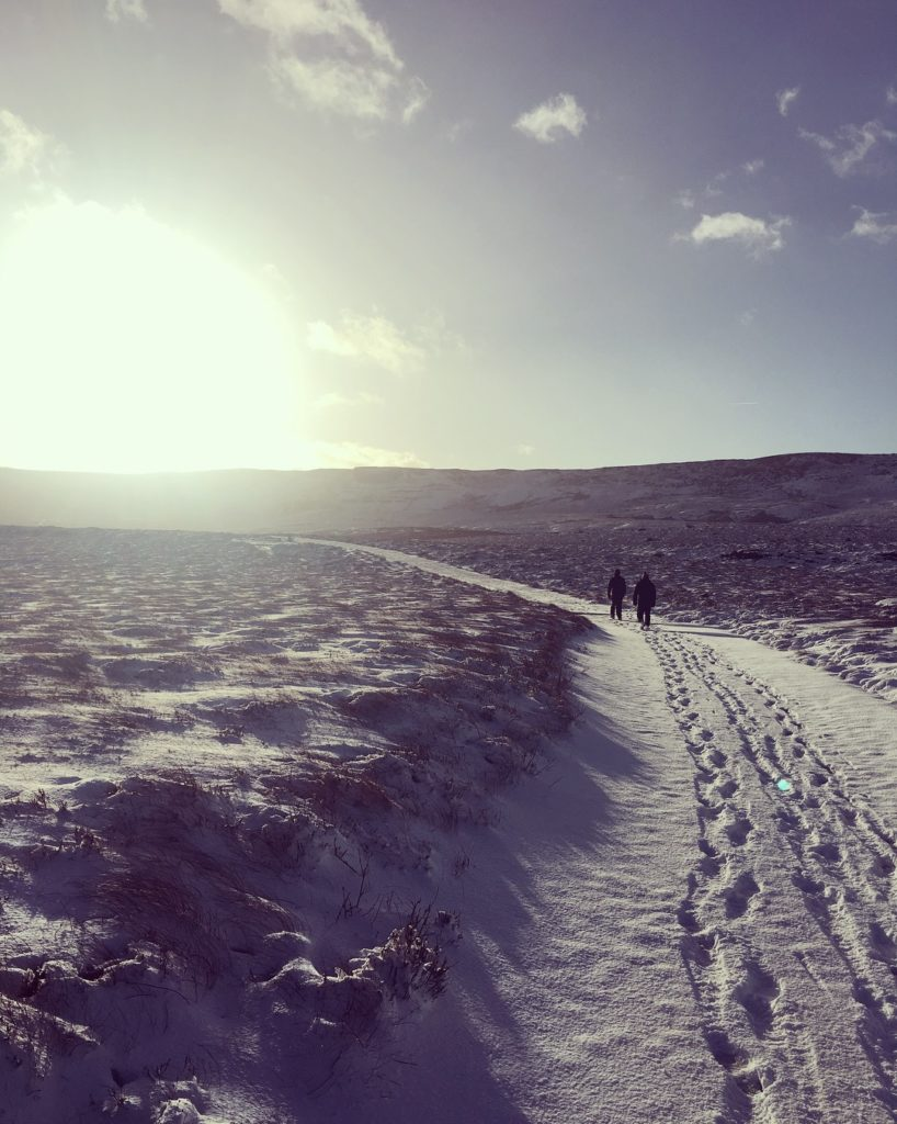 cuilcagh in the snow
