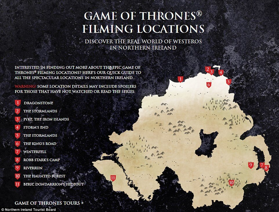 game of thrones map ireland