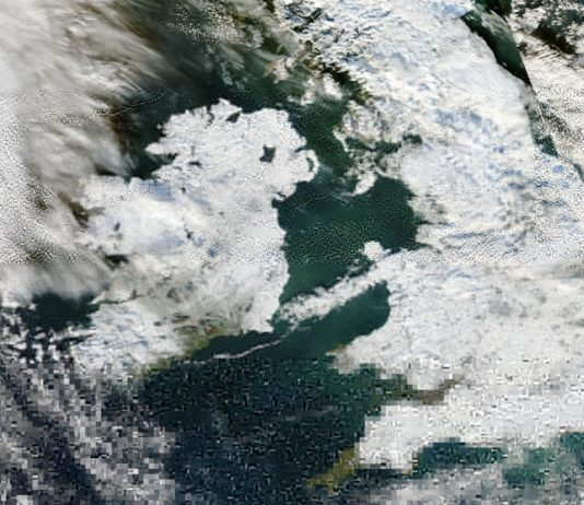 snow ireland aerial