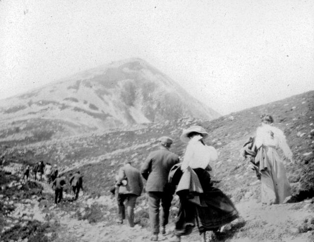 old photo on croagh patrick