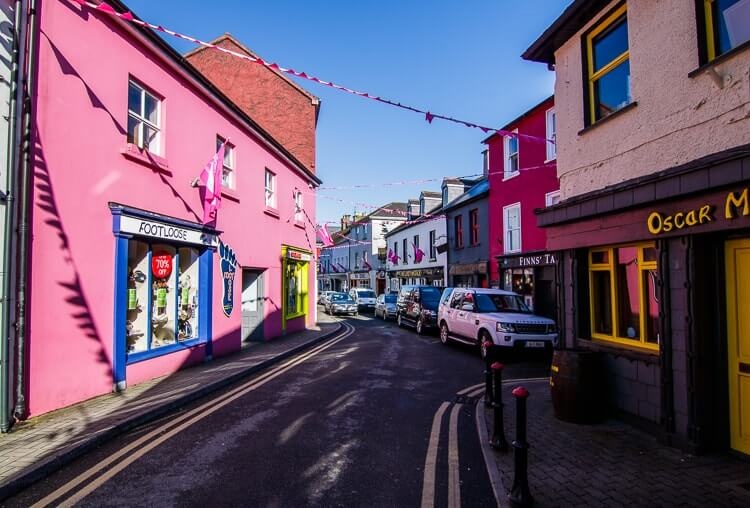 colourful street in kinsale