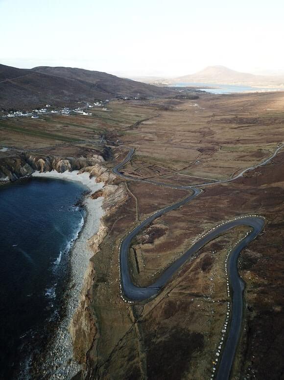 achill island aerial photo