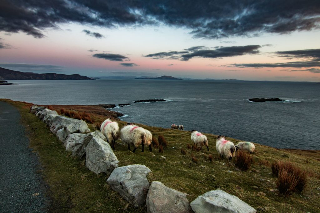ACHILL ISLAND AT SUNSET