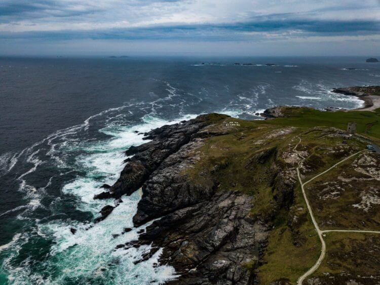 malin head drone shot