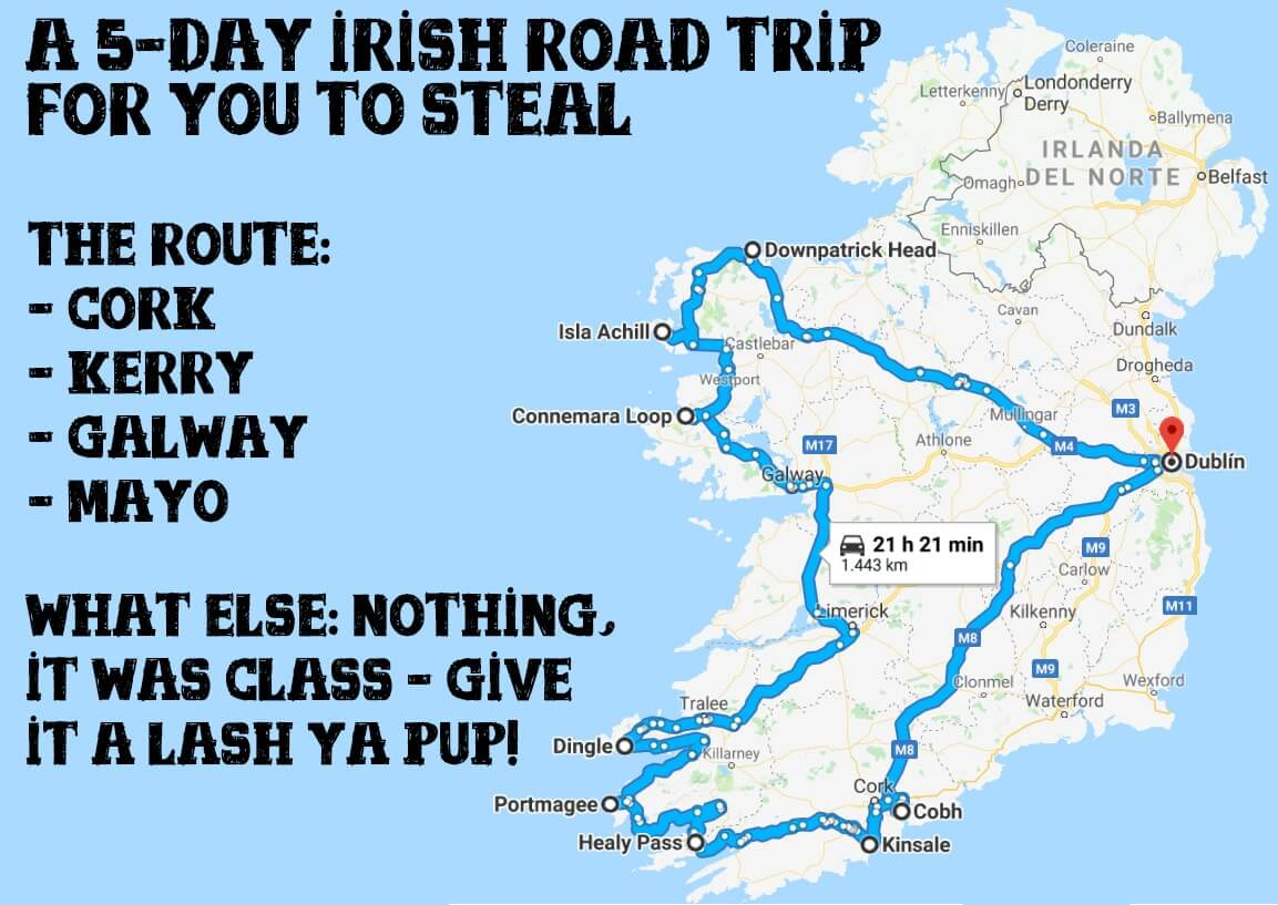 5 days in ireland guide and itinerary