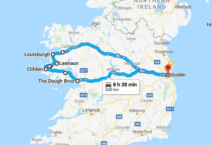 galway to dublin road trip
