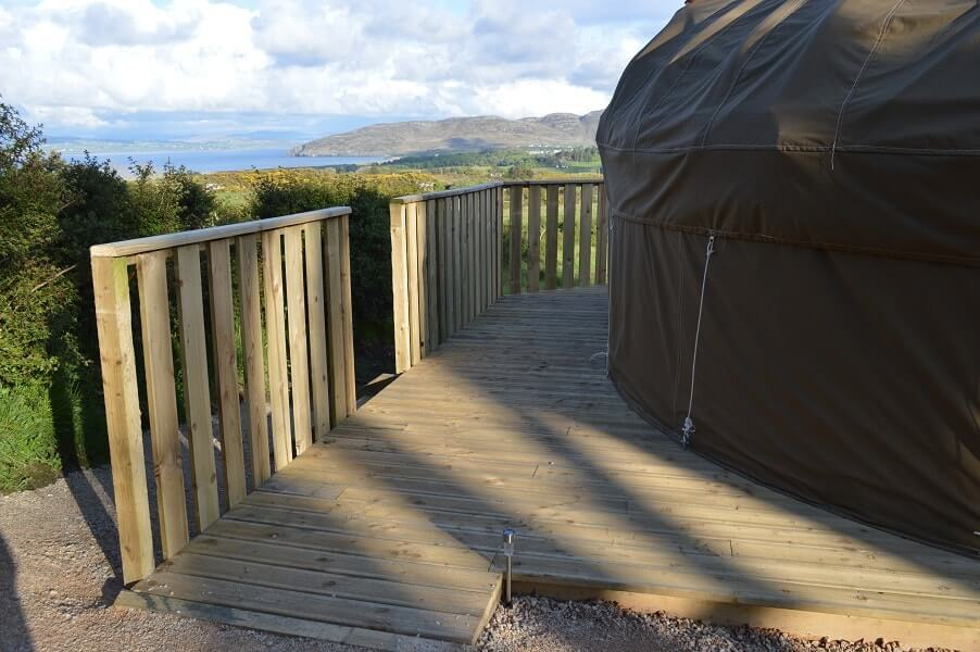 the view from the yurt portsalon