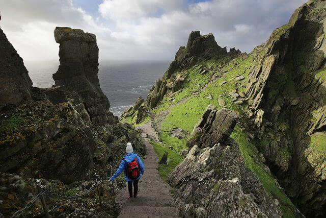 walking on skellig michael