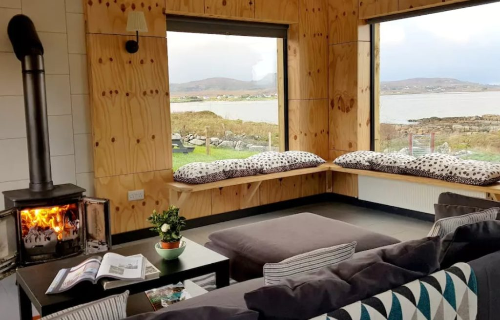 Airbnb in donegal with fire