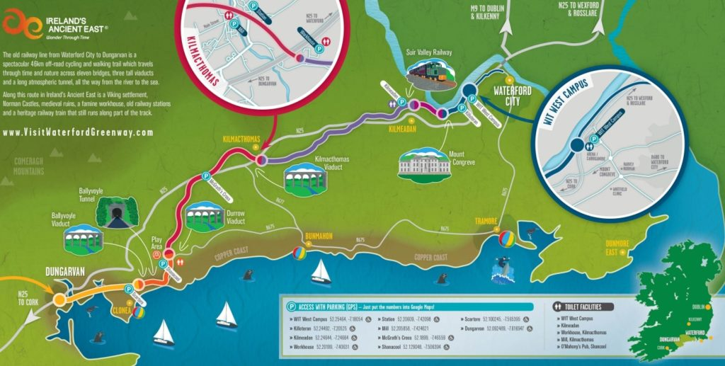 Waterford greenway map