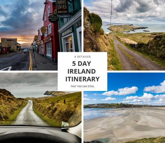 5 day ireland itinerary