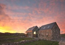 connemara cottage sunset