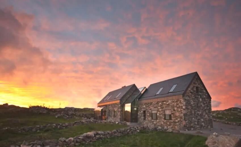 connemara cottage sunset