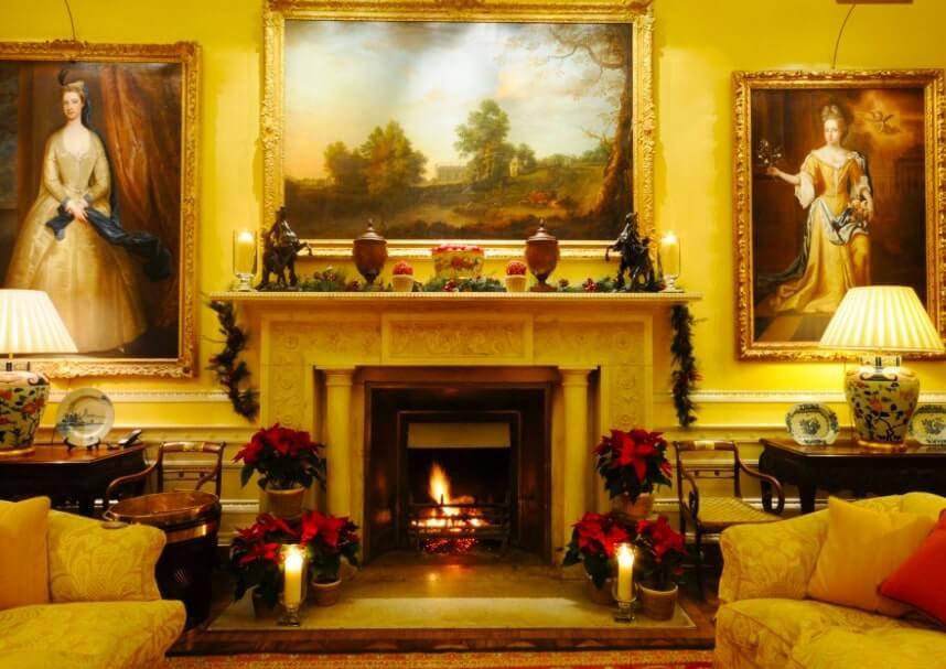 ballyfin hotel fireplace