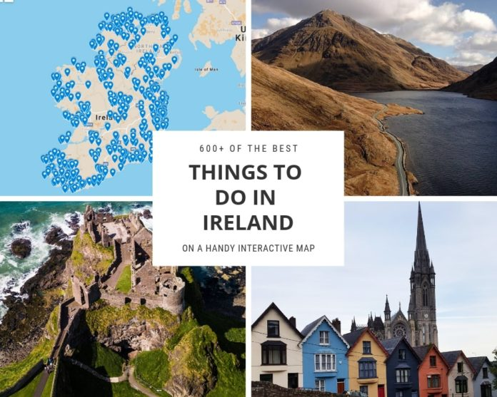 Interactive Map Of Ireland.600 Of The Best Things To Do In Ireland In 2019 On A Map You Ll Love