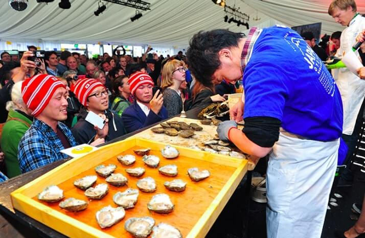 Oysters at the Galway Oyster Festival