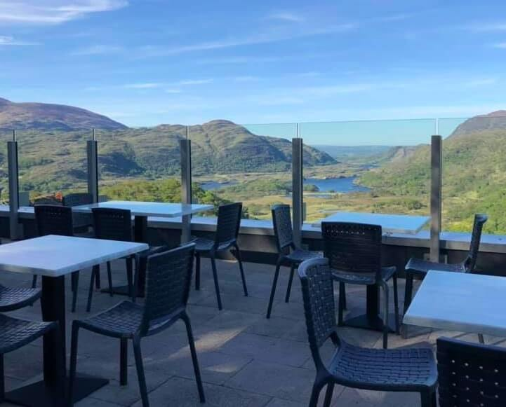 Cafe at ladies view kerry