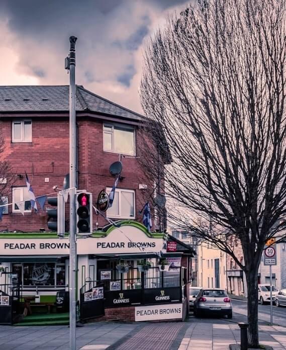 guinness in Peadar Browns pub in dublin