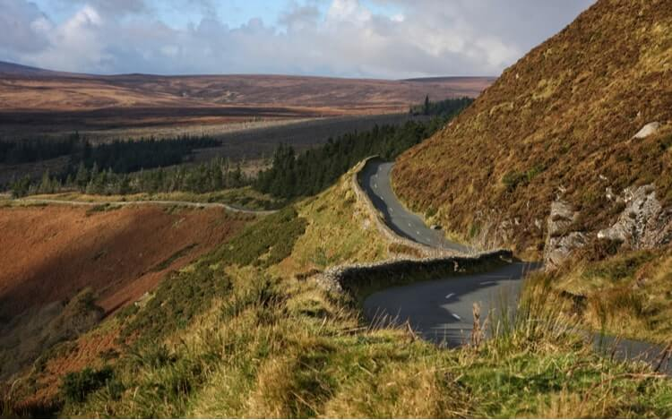 a narrow road near Lough Tay
