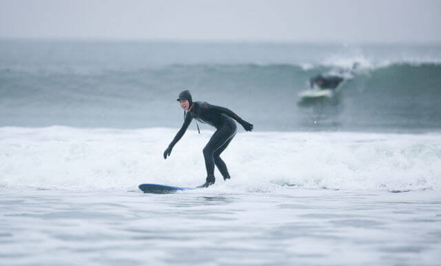 surfing on lahinch