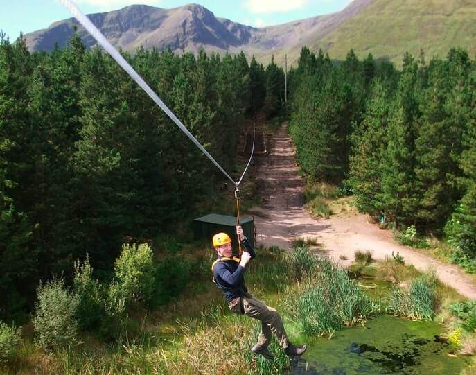 zip lining in connemara