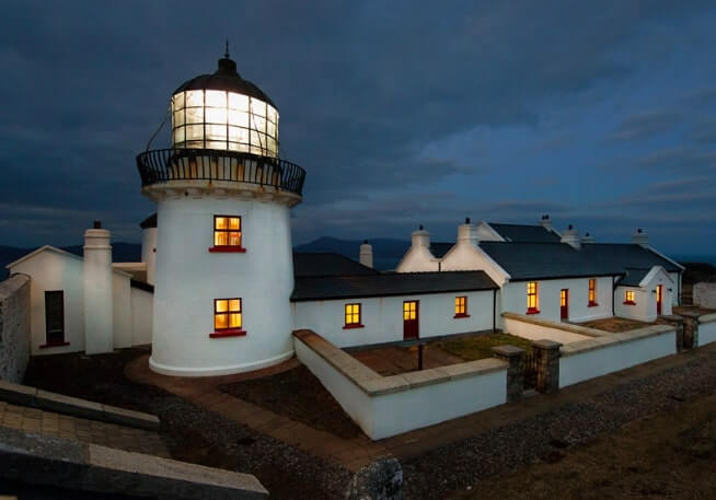 the lighthouse at night