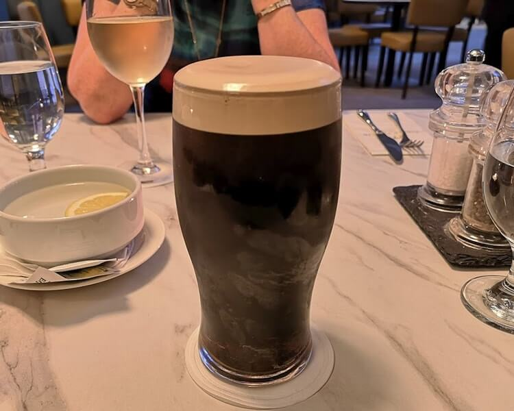 guinness at the dingle Skellig hotel