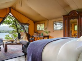 the hideaway glamping
