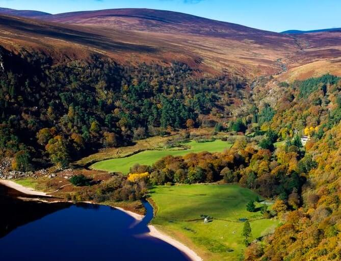 lough tay county wicklow ireland