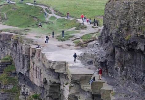cliffs near the edge