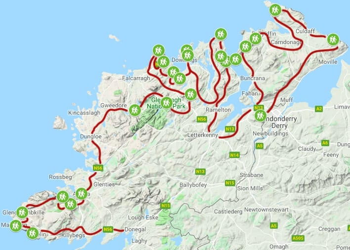 Driving Map Of Ireland With Attractions on