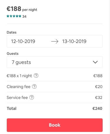lux bus airbnb price
