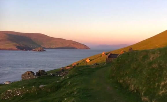 great blasket island sunset