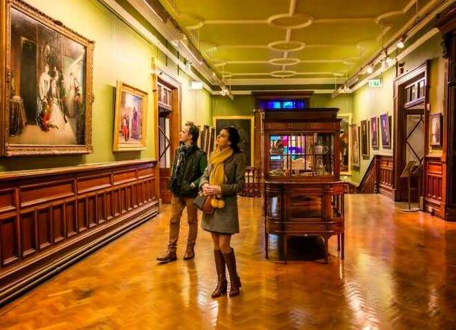 Inside Crawford Art Gallery in Cork
