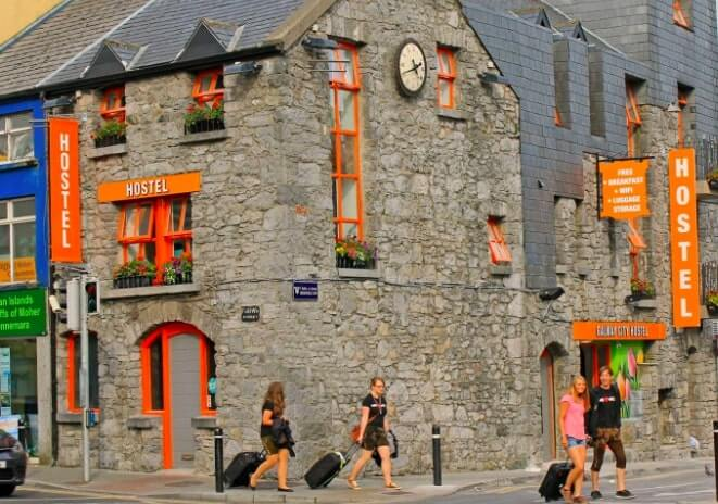 Galway City hostel exterior