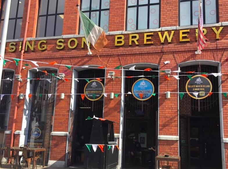 Outside the Rising SONS Brewery